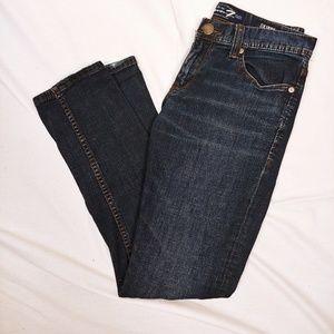 Seven7 darkwash skinny jeans
